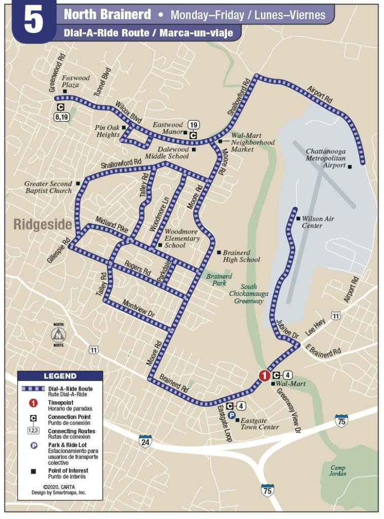 Rt 5 North Brainerd map