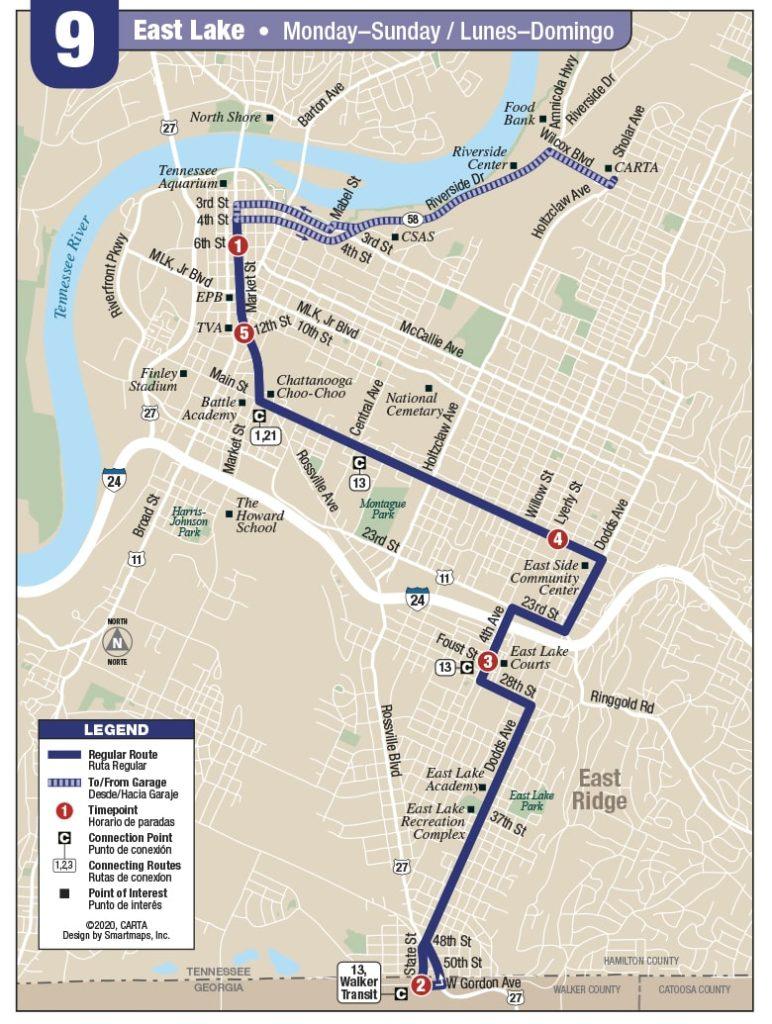 Rt. 9 Eastlake map