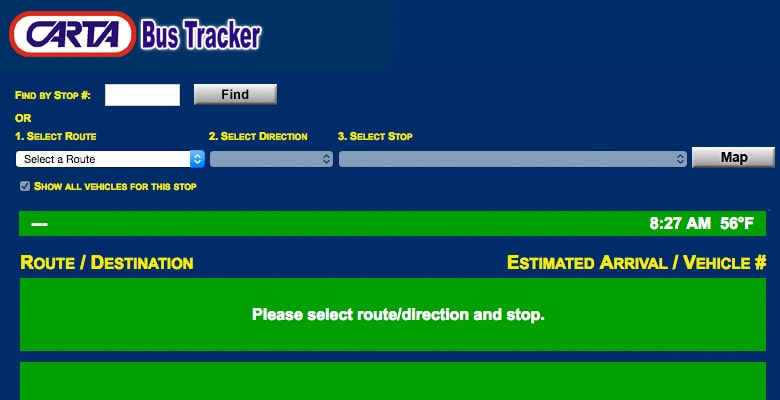 Bus tracker ETA app
