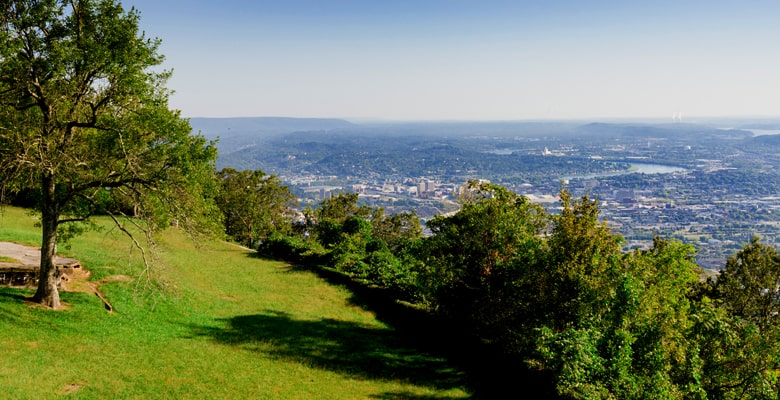 overlooking Chattanooga from the incline railway