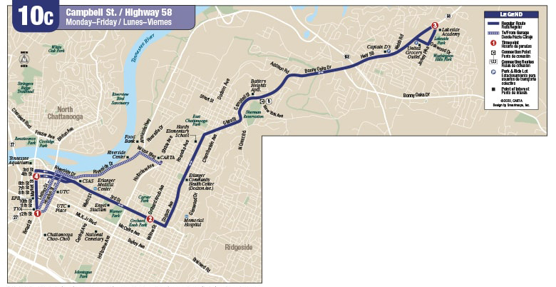 Rt 10C Campbell St map